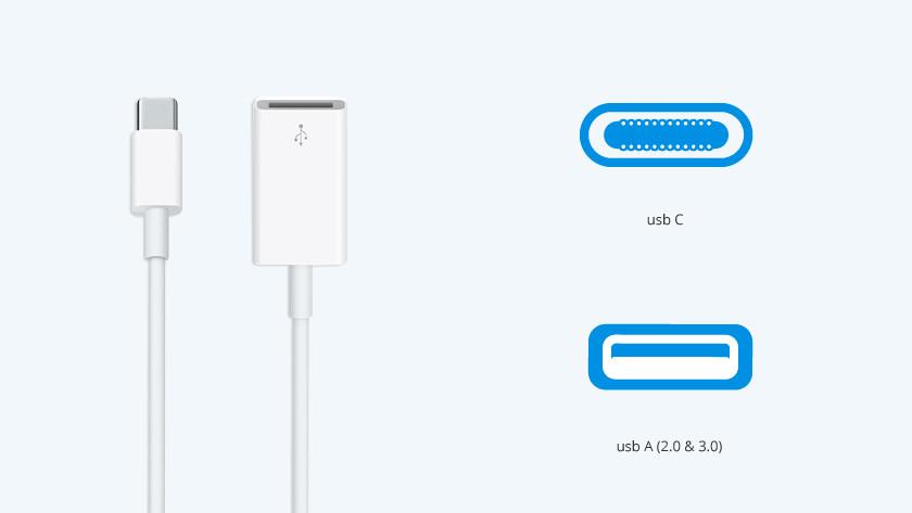 Apple usb C naar usb A converters