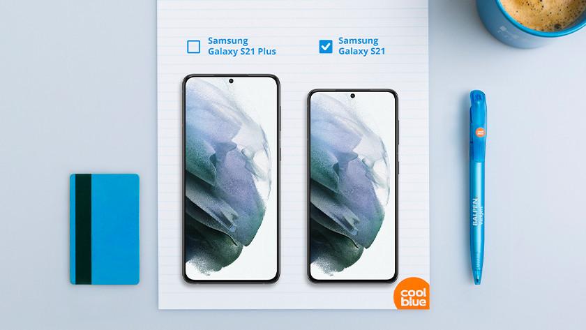 Samsung S21 Samsung S21 Plus formaat vergelijken