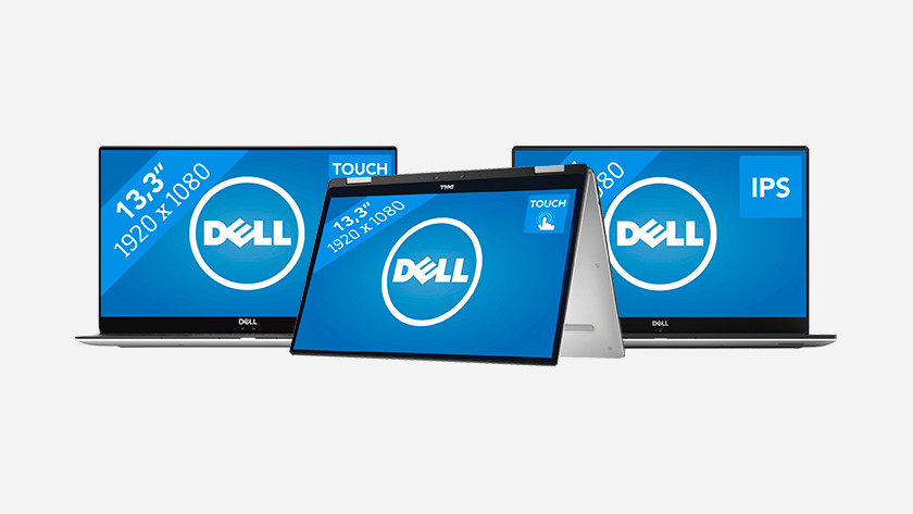 Drie Dell laptops.