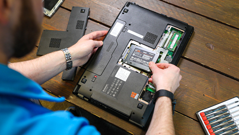 Install SSD in laptop