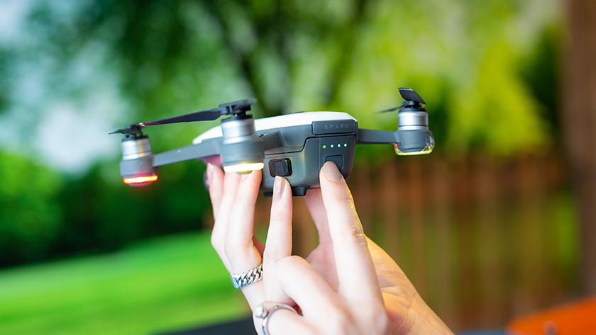 Drone aanzetten