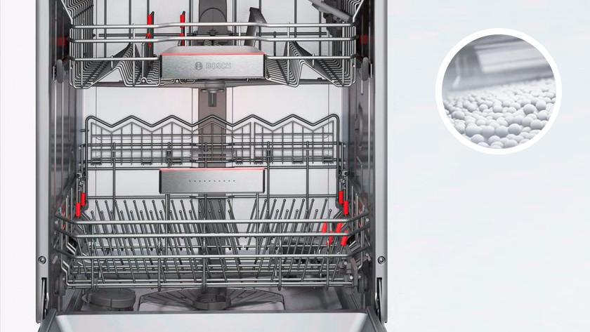 Dishwasher with zeolite granules