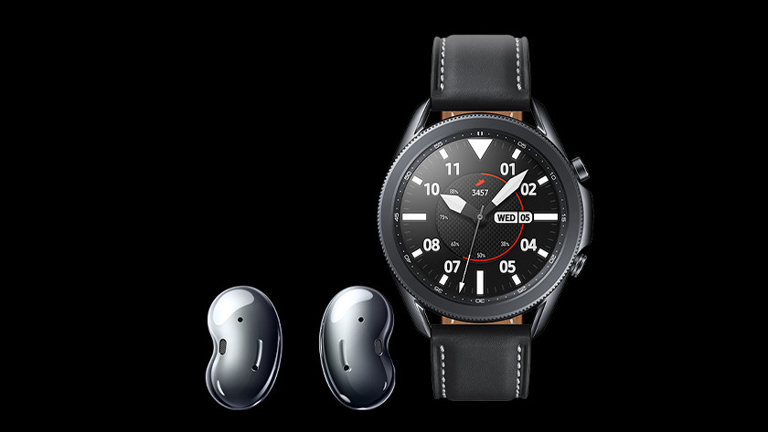 Koppel Samsung Galaxy Watch3 met Galaxy Buds