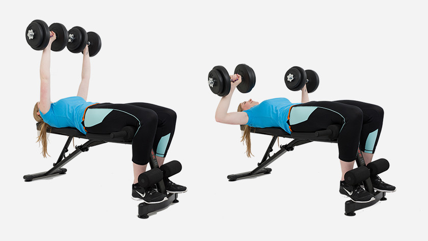 Explanation of dumbbell bench press