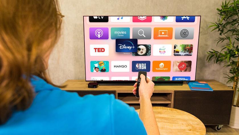 Pas het beginscherm van Apple TV aan