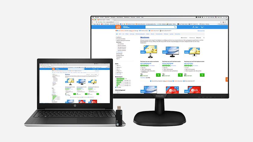 Laptop as a desktop monitor