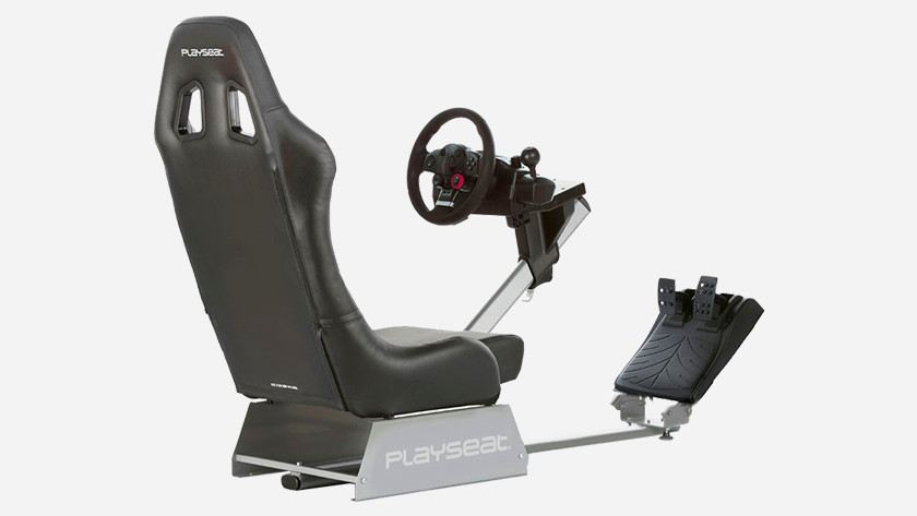 Racing cockpit in use