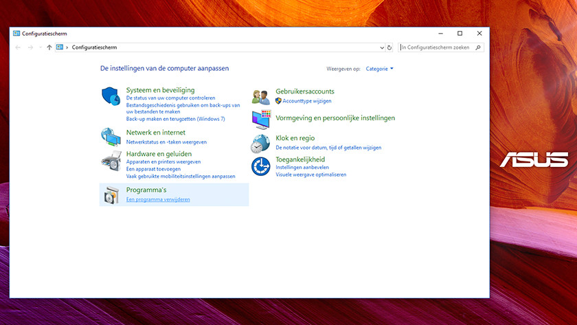Remove bloatware from your Asus laptop - Coolblue - Before