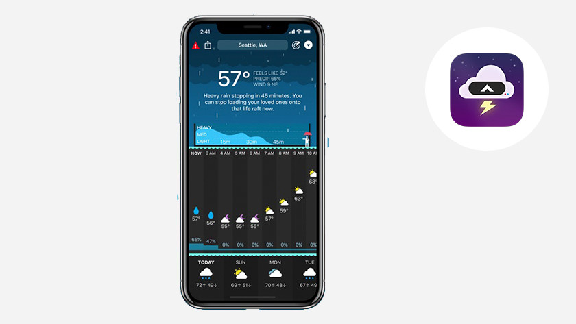 Apple iPhone iOS CARROT Weather app