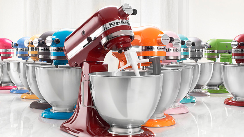 Different colors of KitchenAid