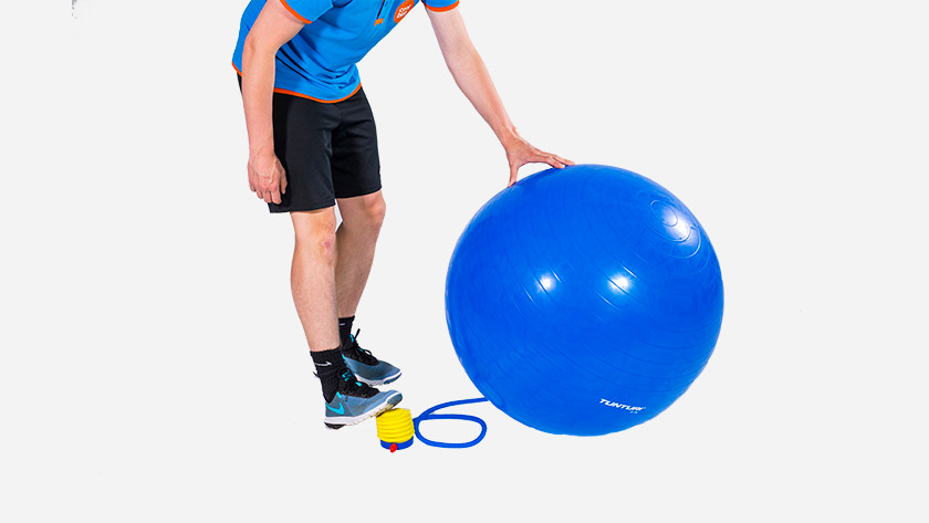 Inflate the ball