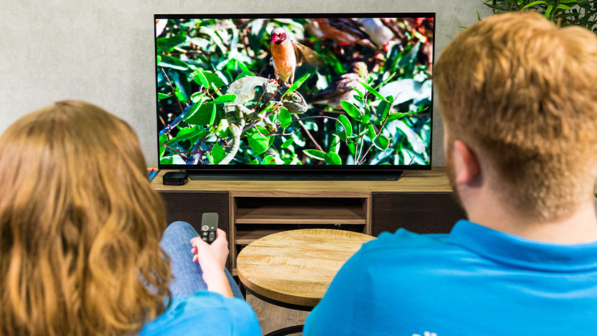 Televisie zonder touchscreen