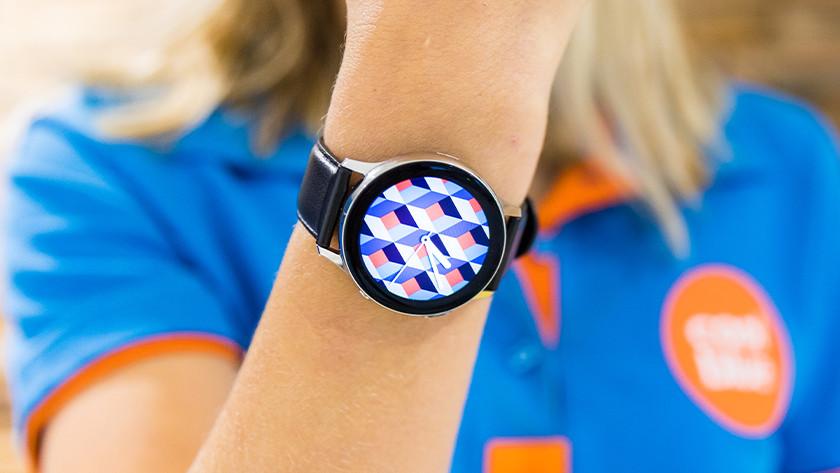 Smartwatch op pols