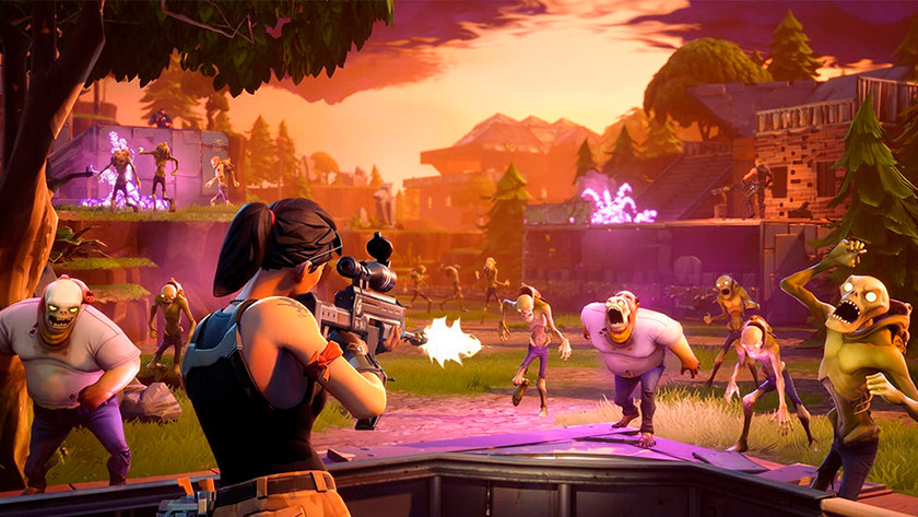 Fortnite zombies shoot shooter Battle Generous victory win game entry level gaming setup laptop