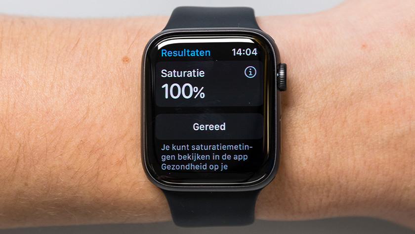 Als de meting klaar is, zie je gelijk jouw saturatiewaarde op het scherm.