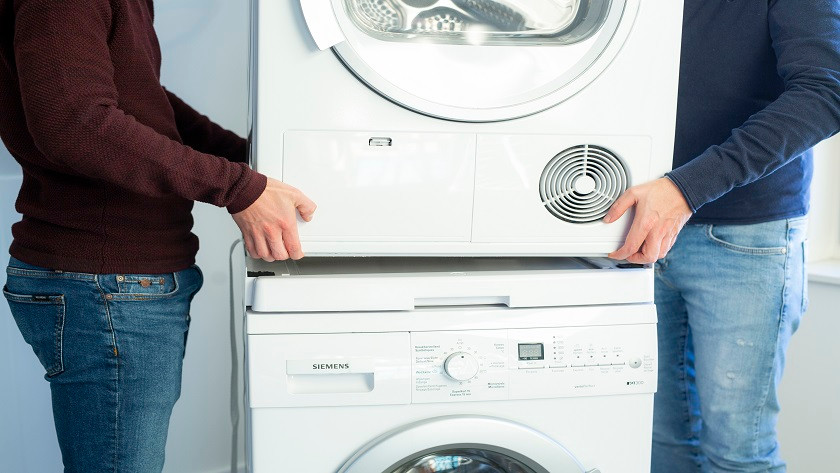 Wasdroger op wasmachine
