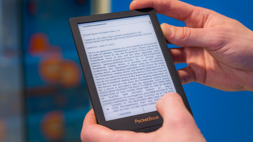 Terms and conditions PocketBook e-reader