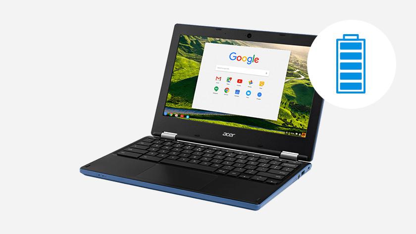 Chromebook en vol batterij icoon