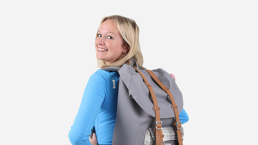 Student use backpacks