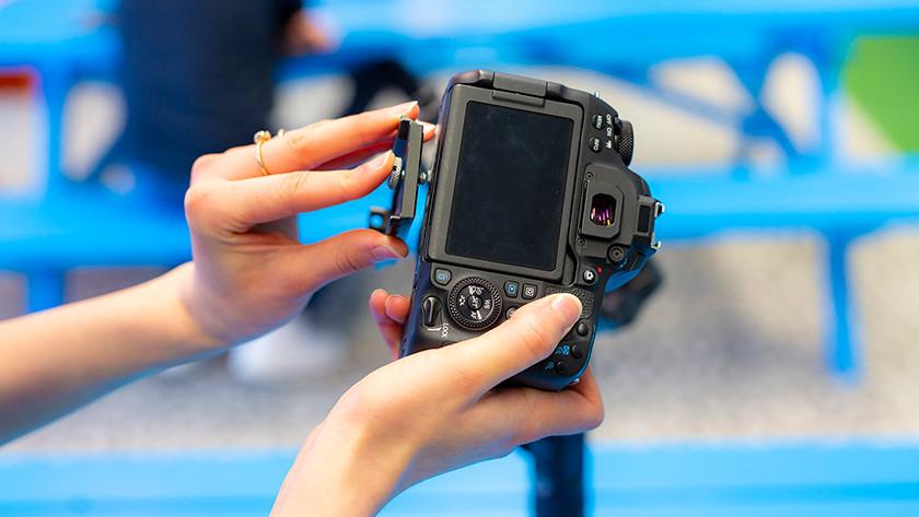 Camera bevestigen
