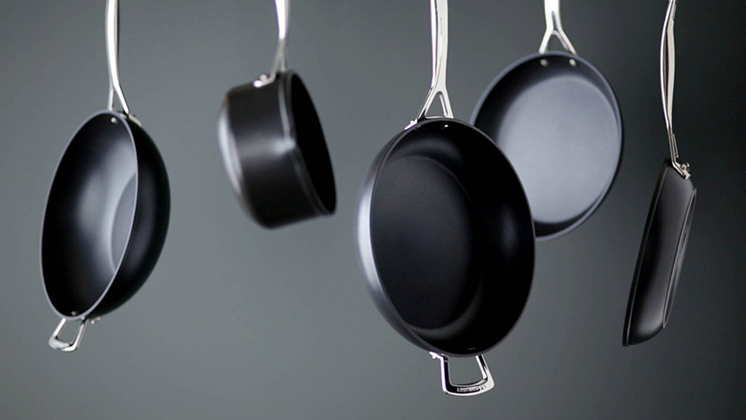 Different sizes of frying pans