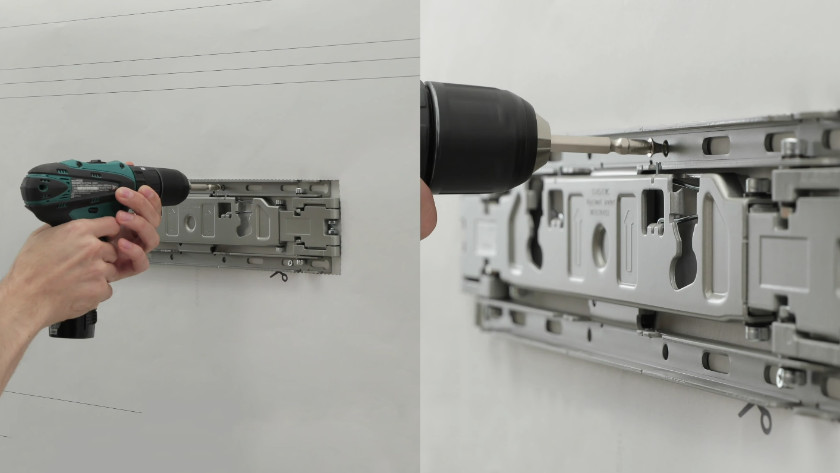 Drill the wall mount