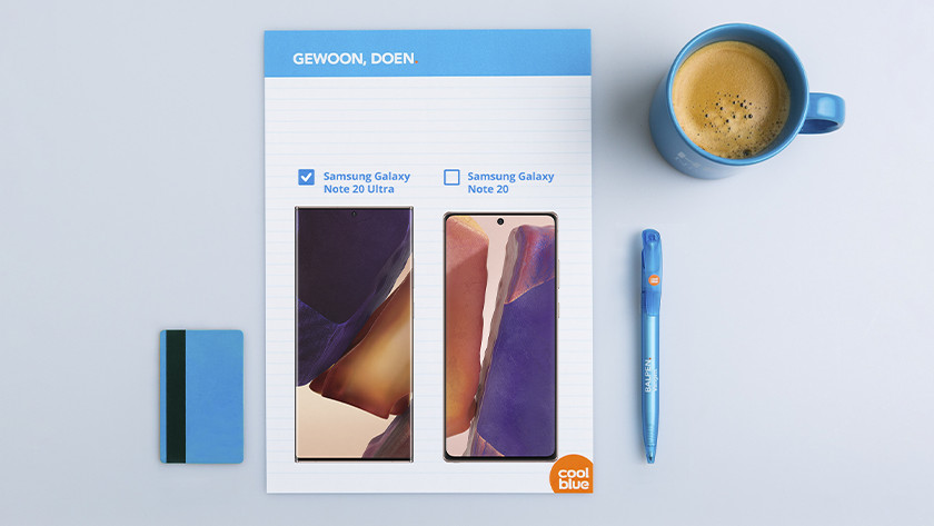 Samsung Note 20 Ultra vs Note 20 formaat