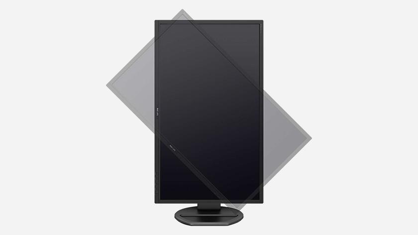 Monitor met Pivot functie  die kan je 90 graden roteren