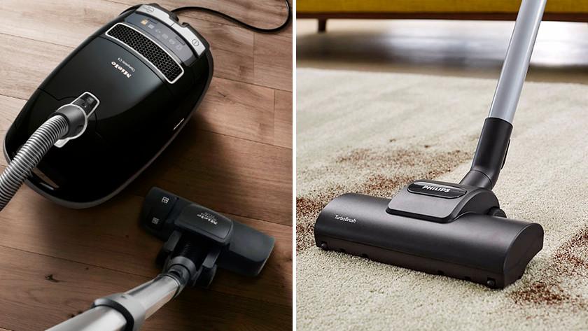 Floor type vacuums