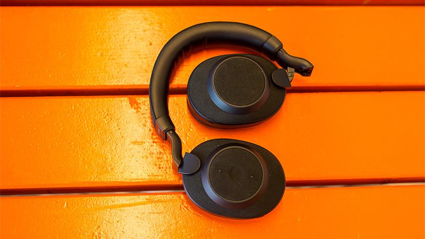 Folded headphones