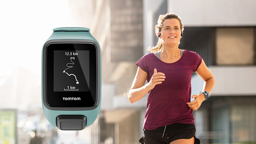 Runner with smartwatch