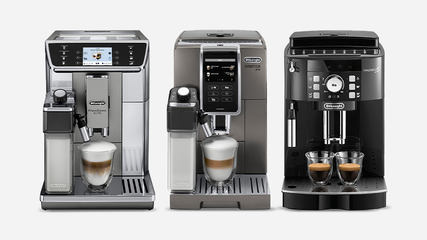 Choose De'Longhi fully automatic coffee machine