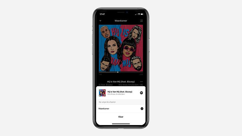 Soundbar via app