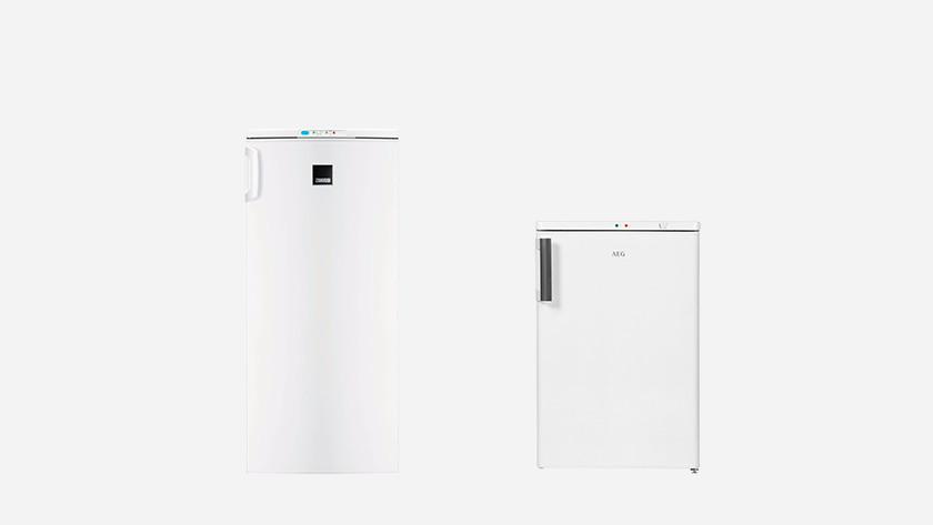 Small upright freezer and compact freezer