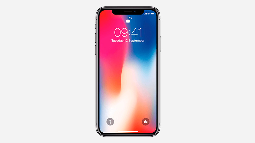 The iPhone X screen