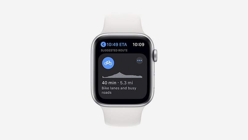 watchOS 7 maps cycling