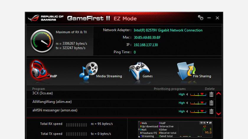 ROG gaming software.