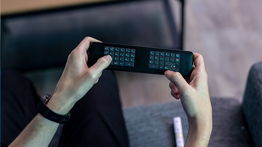 Remote with keyboard