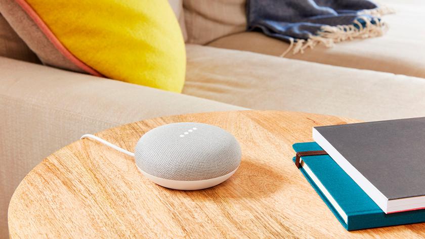 Stream met Chromecast en Google Home Mini
