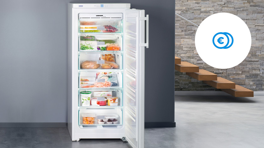 Savings A+ upright freezer