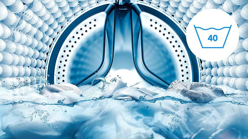 Symbool wassen op 40 graden