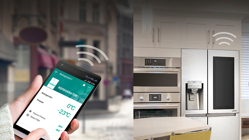 Operate refrigerator with app