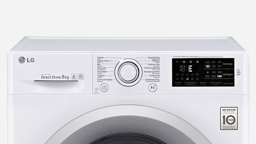 The top 8 errors of LG washing machines - Coolblue - Before