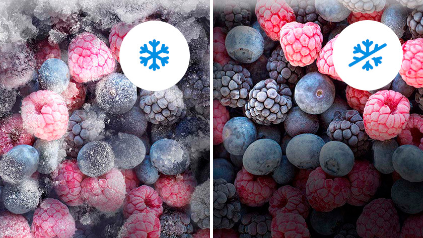 No frost versus no anti-ice buildup berries