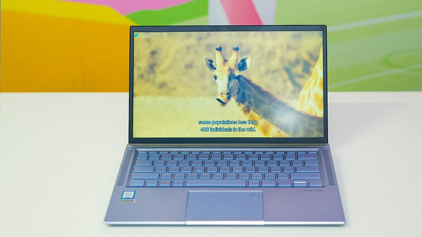 Natuur documentaire kleuren beeldscherm Asus ZenBook