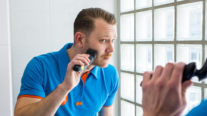 Trimmen met Philips baardtrimmer opzetstuk