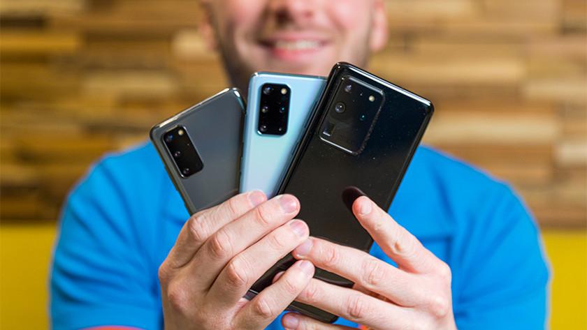 Samsung smartphones vergelijken