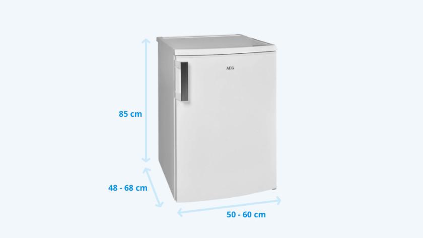 Afmetingen tafelmodel koelkast