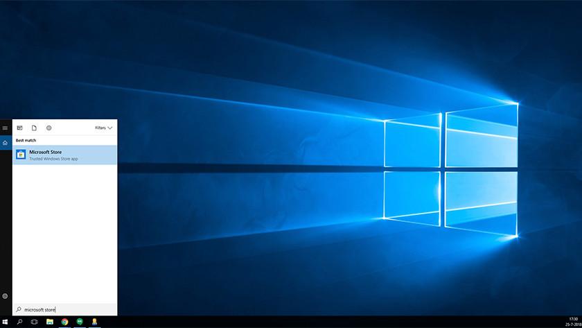 Microsoft Store in start menu Windows 10.