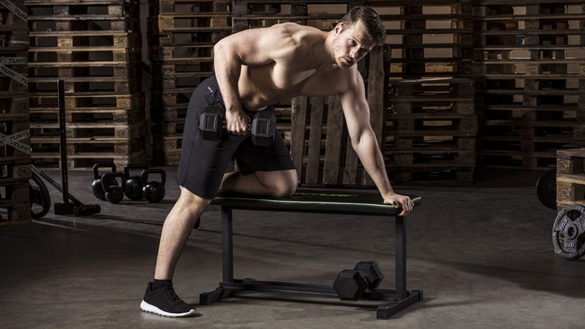 Work out at home with a fitness bench